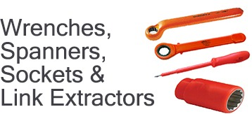 Insulated Wrenches, Spanners, Sockets & Link Extractors